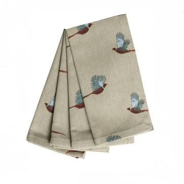 'Pheasant' Napkins, Set of 4