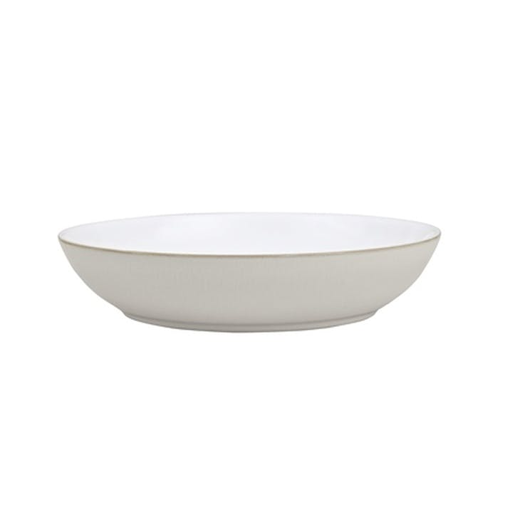 Natural Canvas Pasta Bowl, 24cm, Cream