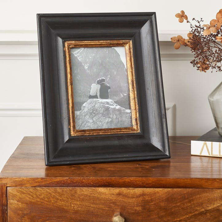 Black & Gold Wooden Photo Frame - Small