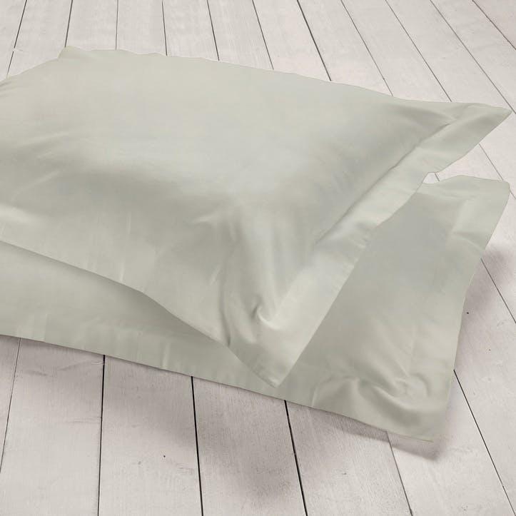 Pure Oxford Pillowcase, Set of 2, Silver
