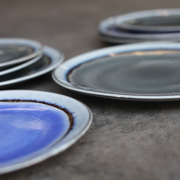 Dakara Ceramic Side Plate; Grey