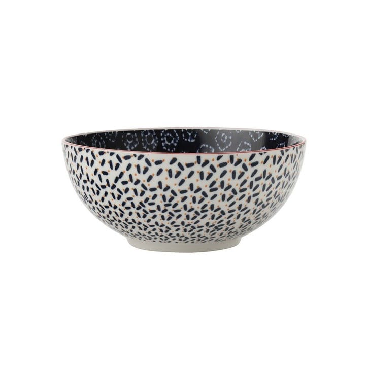 Boho Cereal Bowl, Navy