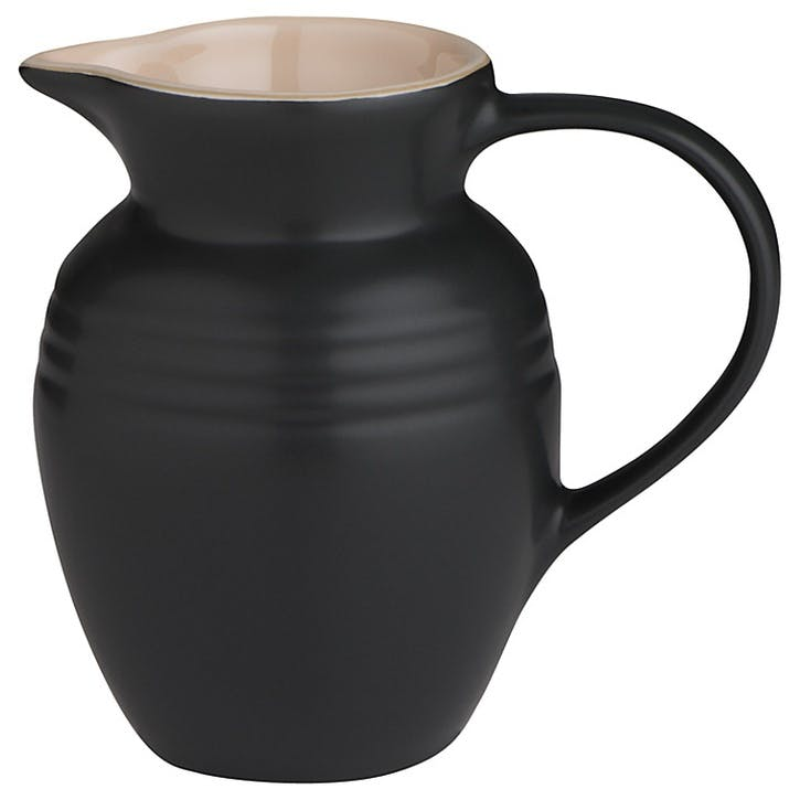 Stoneware Jug - 0.6L; Satin Black