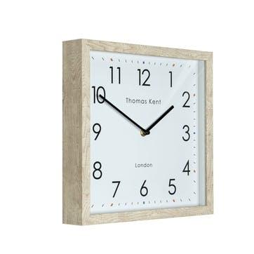 Smithfield Clock, 30cm, Soaped Oak