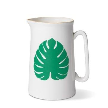 Tropical Leaf Jug, 1 Pint