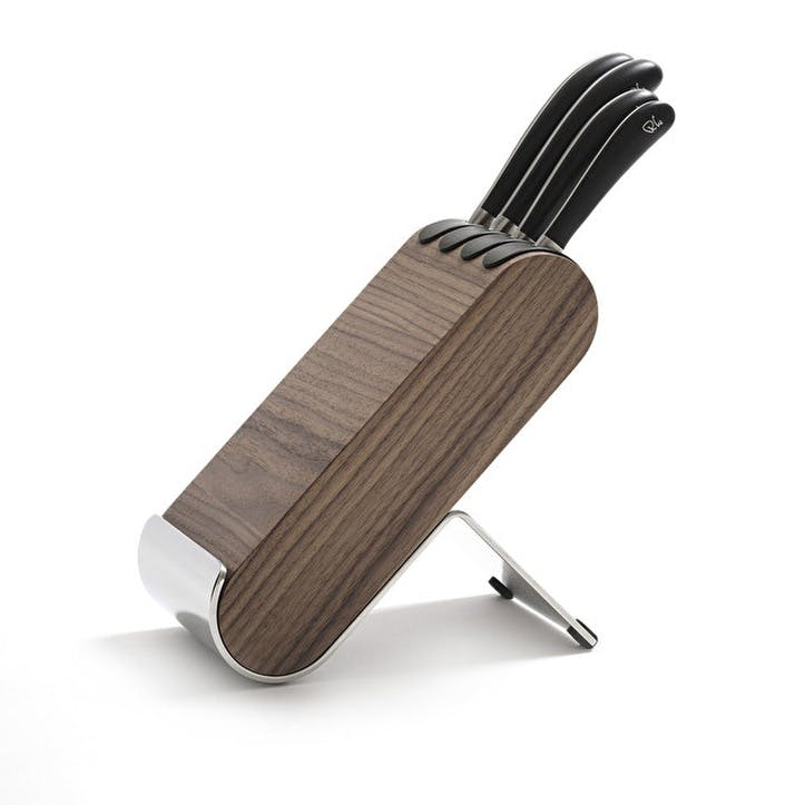 Signature Q Knife Block Set; Walnut