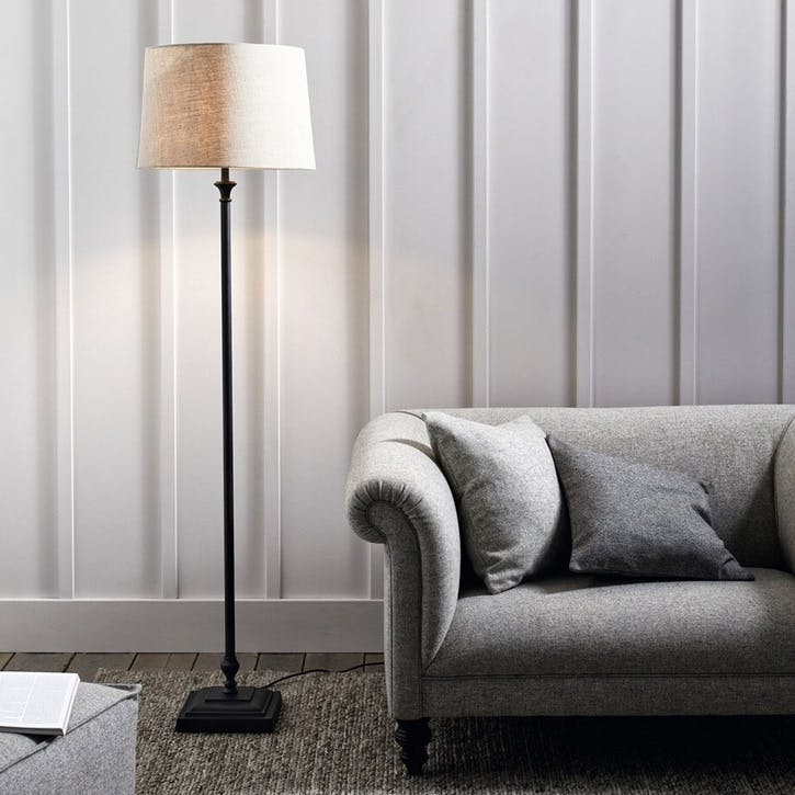 Cowley Black Metal Floor Lamp