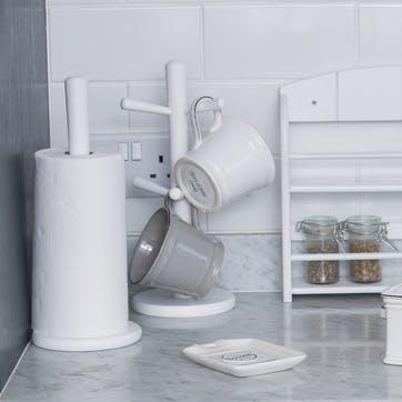 Kitchen Roll Holder, White