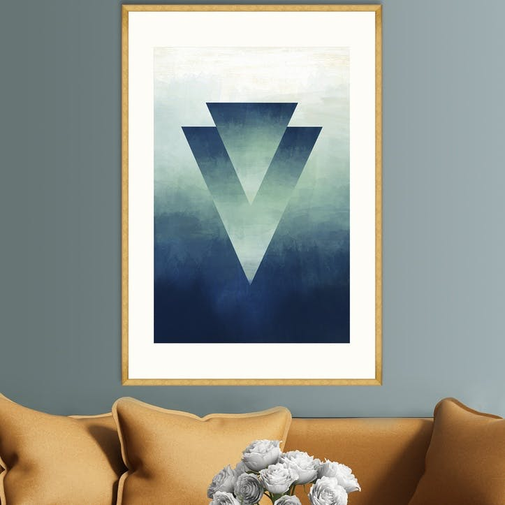 Abstract Ombre II, Gold Framed Print, 70 x 100cm
