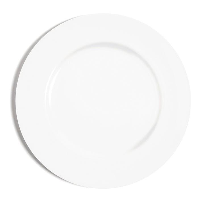White Rimmed Dinner Plate