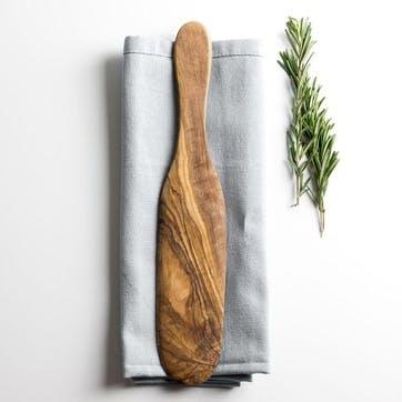 Traditional Olive Wood Pancake & Omelette Spatula - 29cm