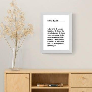 The Native State, Love Rules Framed Art Print
