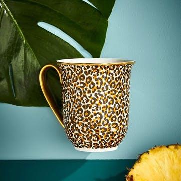Mug Floral, Leopard
