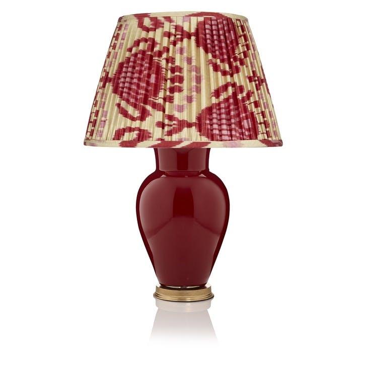 Plain Lamp Base, Large, Burgundy