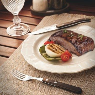 Jumbo Steak Forks Set, 6 Piece, Brown