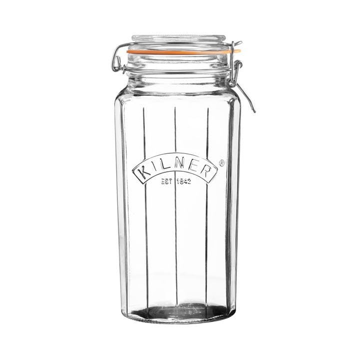 Faceted Clip-Top Jar, 1.8L