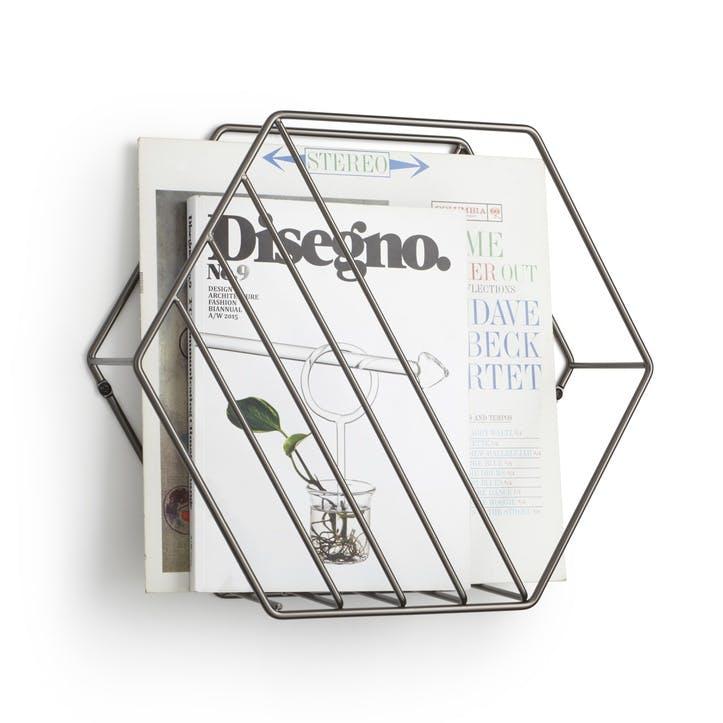 Zina Magazine Rack & Record Holder