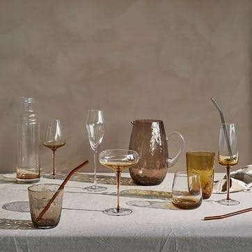 Amber Champagne Glass