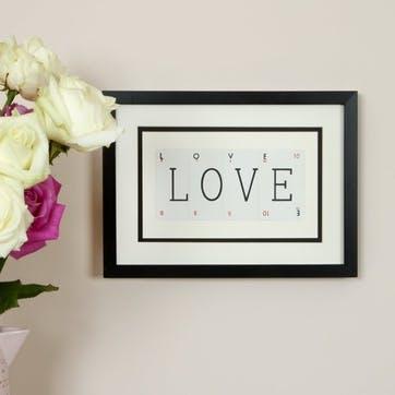 'Love' Word Frame