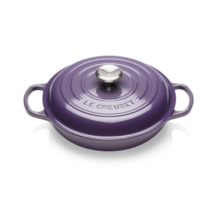 Cast Iron Shallow Casserole - 26cm; Ultra Violet