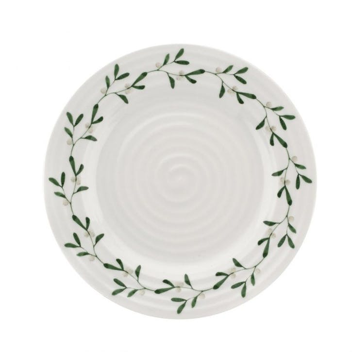 Mistletoe Side Plates, Set of 4