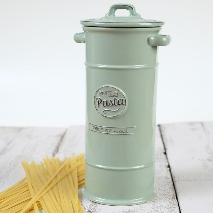 Pride of Place Pasta Jar, Old Green