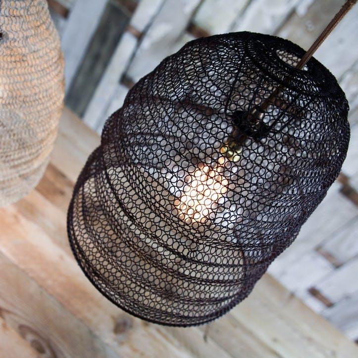 Jatani Wire Lampshade - Oval; Rust