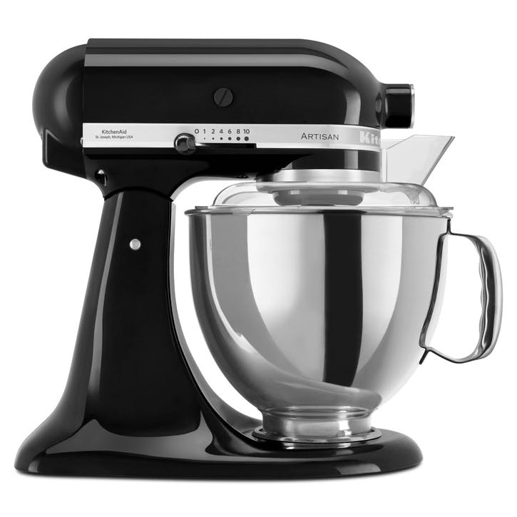 Artisan Stand Mixer with FREE 4.8L Glass Mixing Bowl, 4.8L, Onyx Black