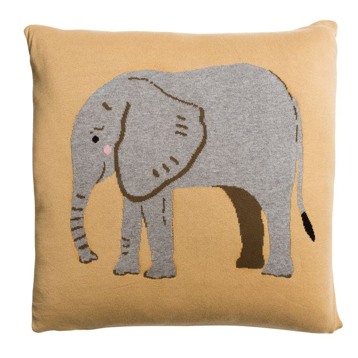 'Elephant' Knitted Statement Cushion