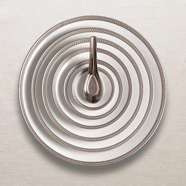 Soie Tressée Teacup & Saucer, Set of 2, Platinum