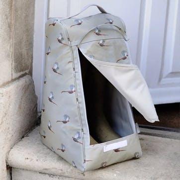 'Pheasant' Oilcloth Boot Bag
