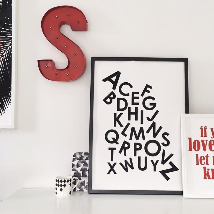 A-Z Print - 30 x 40cm