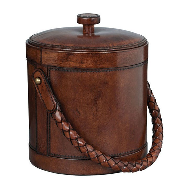 Saddle Leather Aberdare Ice Bucket
