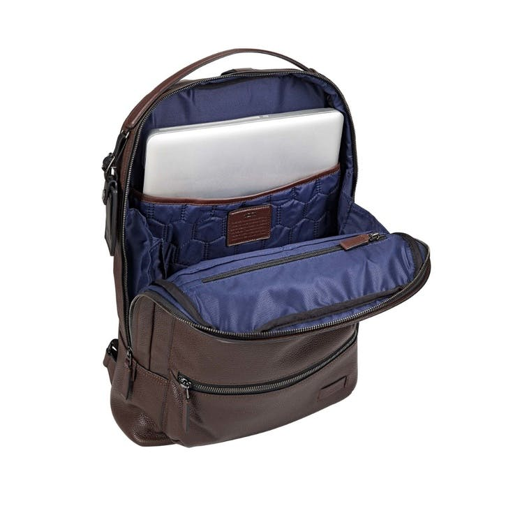 Tumi Harrison Bates Backpack, Brown Pebbled Leather