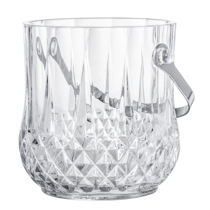 Embossed Glass Ice Bucket