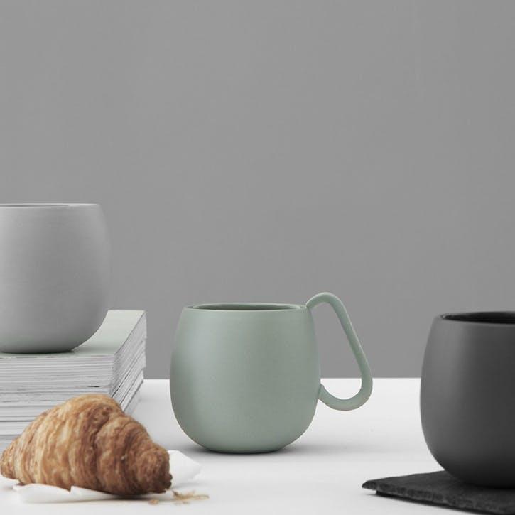 Nina Tea Mug, Set of 2, Green