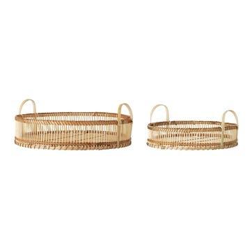 Bamboo Trays, Set of 2