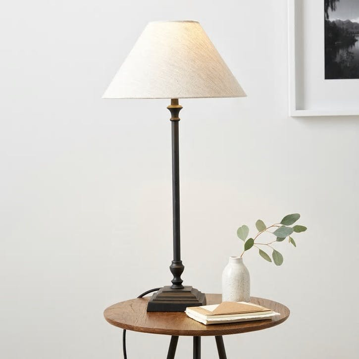 Cowley Black Metal Table Lamp