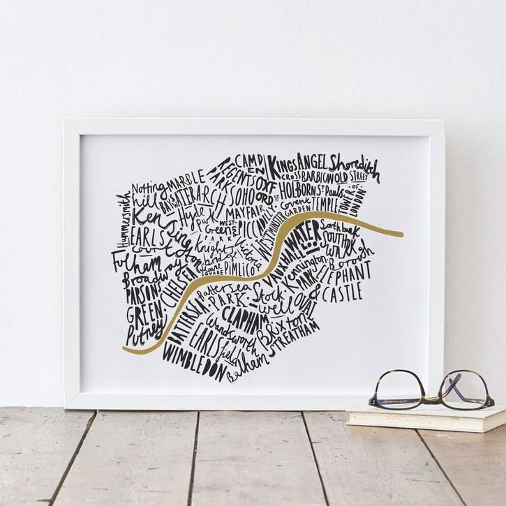 'London Map' Print, A3