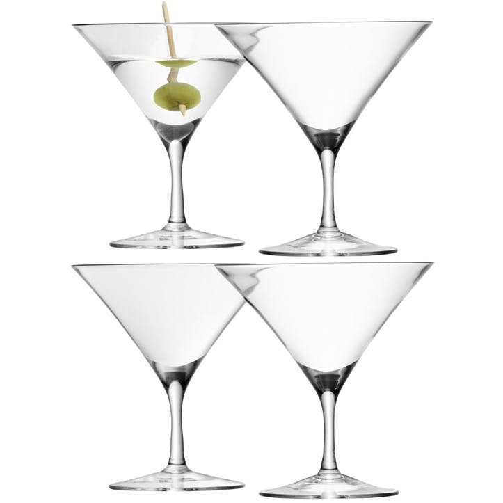 LSA Bar Martini Glass, 180ml, Set of 4