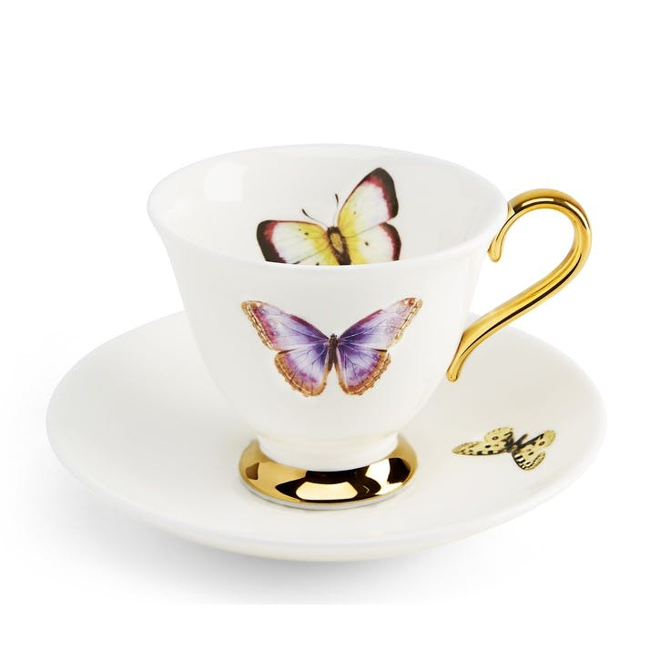 Urban Nature Butterflies Tea Cup & Saucer