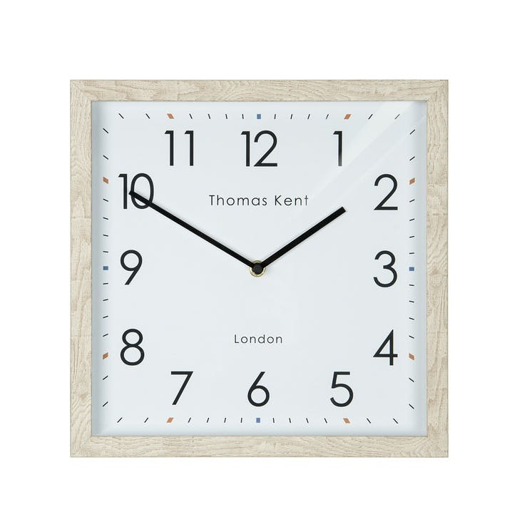 Smithfield Clock, 30cm, Soaped Oak