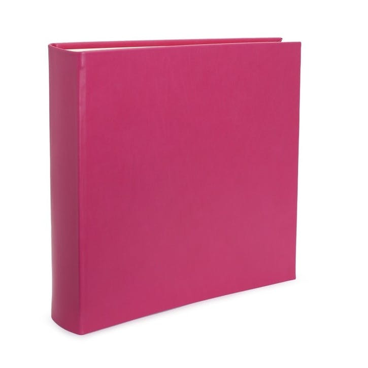 Chelsea Square Leather Photo Album, Fuchsia