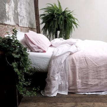 Complete Bedding Bundle Super King with Super King Pillowcases Blush Pink