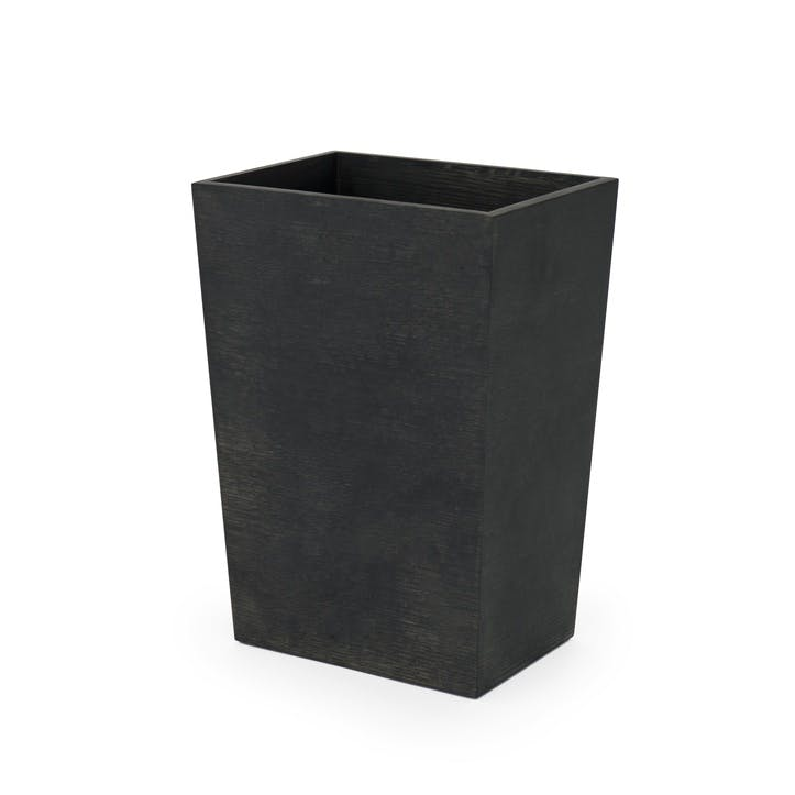 Mezza Rectangular Bin, Large, Dark Oak