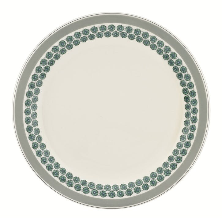 "Westerly Round Platter - 13""; Grey Band"