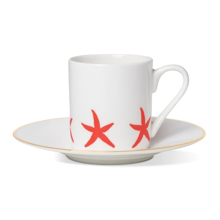 Starfish Espresso Cup and Saucer