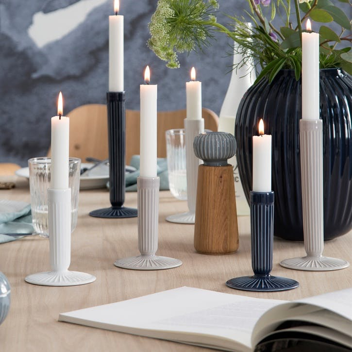 Hammershøi Candle Stick, Small, Indigo