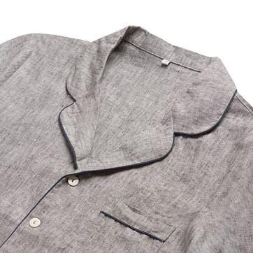 Men's Grey Linen Pyjama Set, Small