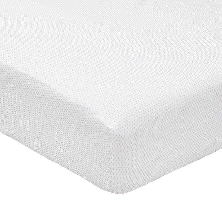 Tulip King Fitted Sheet, Cloud Grey